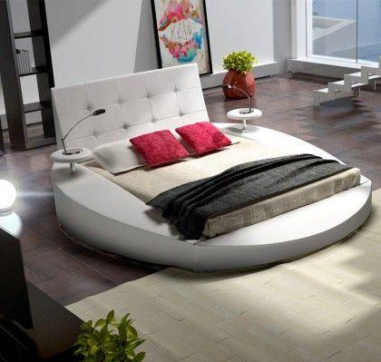 Cama redonda modelo Sanabria en color blanco. ¿Le gusta el ...