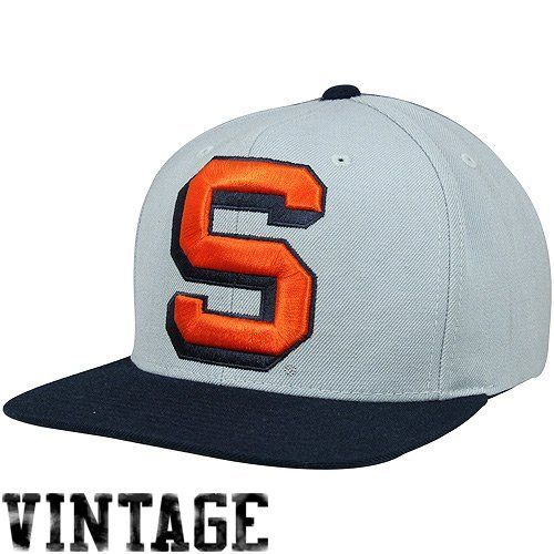 new style 7864d 9250c Syracuse Orange Mitchell   Ness Vintage Gray Snapback Hat Mitchell   Ness.   30.48