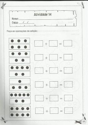 Atividades de Matemática para 1º ano - Mundinho da Criança - Atividades para Educação Infantil