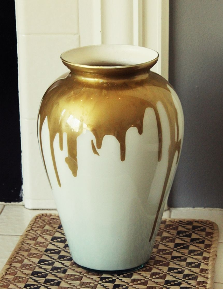 Diy paint drip milk glass vase milk glass glass and craft diy paint drip milk glass vase homedit floridaeventfo Gallery
