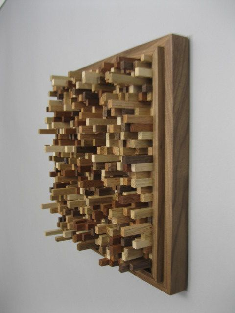 Wall Decor Hanging Abstract Sculpture Wood Art