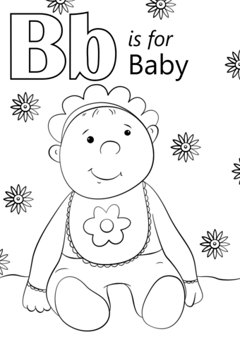 Letter B Is For Baby Coloring Page From Letter B Category Select From 26388 Printable Crafts Of Cartoo Abc Coloring Pages Abc Coloring Alphabet Coloring Pages