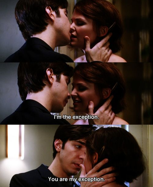 Ginnifer Goodwin and Justin Long as Gigi and Alex in He's Just Not That Into You. Love this part