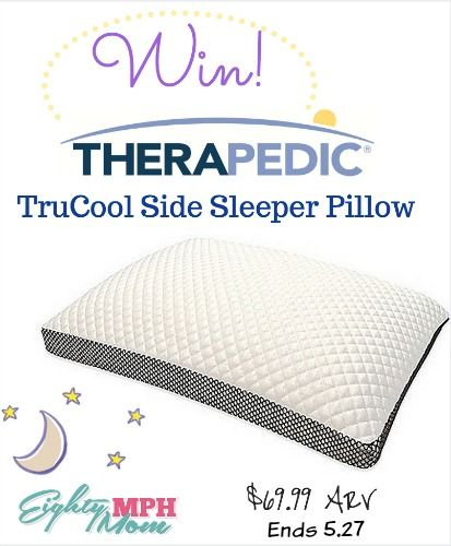Therapedic Trucool Side Sleeper Pillow From Bed Bath And Beyond Givaway Side Sleeper Pillow Side Sleeper Bed Bath And Beyond