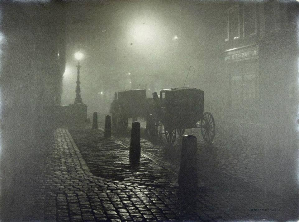 Henri Berssenbrugge • Calèche et pavés la nuit,1910