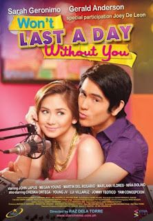 Watch Won T Last A Day Without You Online Free Sarah Geronimo Gerald Anderson Pinoy Movies Geronimo Streaming Movies