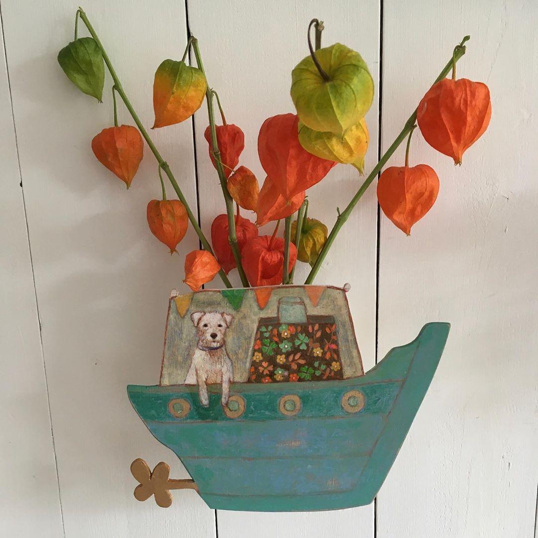"""Andrea Letterie on Instagram: """"Wandvaasjes 🌸in my etsyshop www.andrealetterie.com #wallvase#smallart#flower"""""""