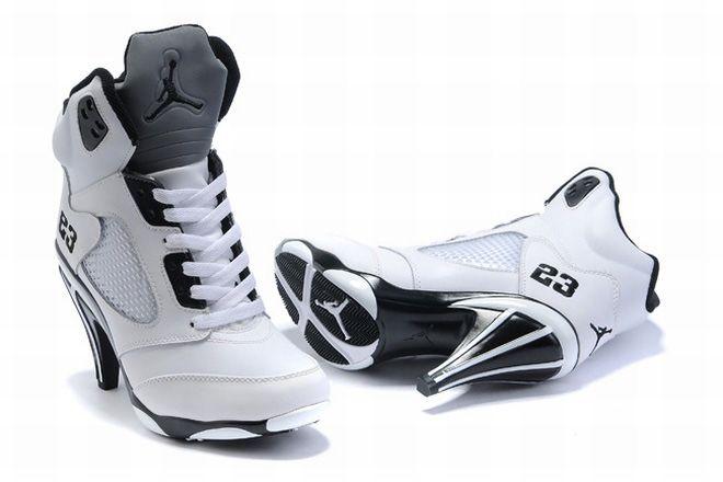 competitive price 9f156 52b8a ... Nike Air Jordan V 5 Heels WhiteBlack httpwww.buyplayjerseys.com ...