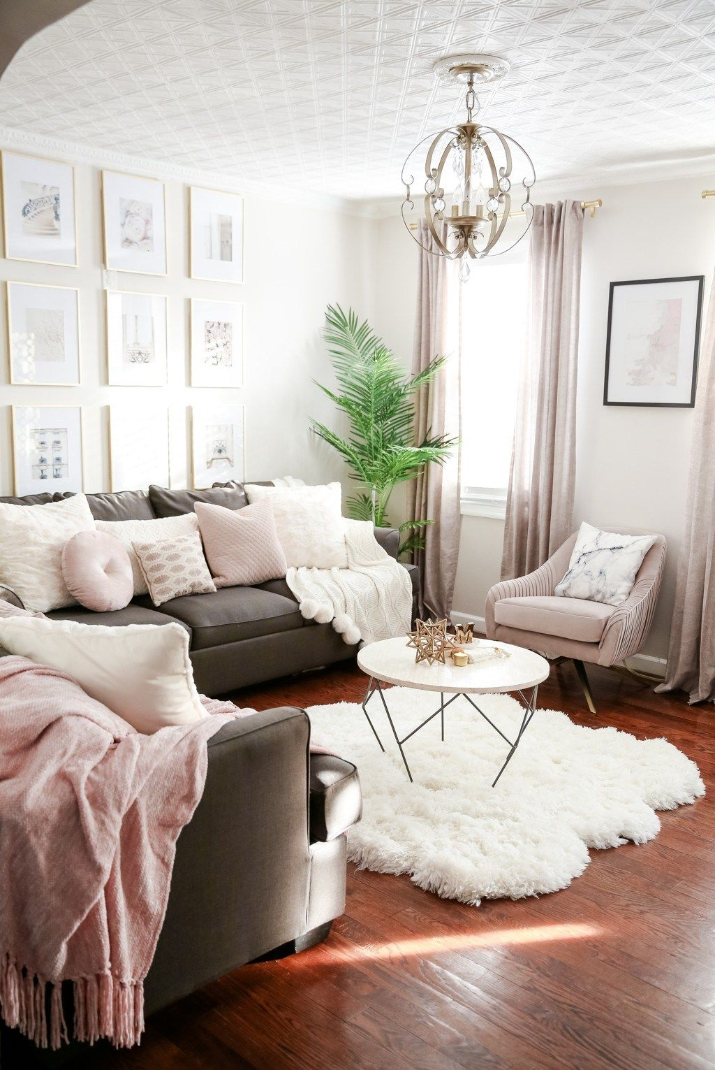 Blush Ivory Black And Gold Home Decor Blush And Grey Furniture