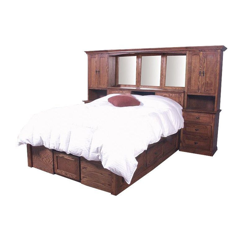Fd 3302m And Fd 3023m Mission Oak Bedroom Pier Wall With Platform Bed Cal King Size Oak Bedroom Bed Queen Bed Plans