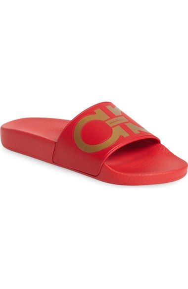 a07023041dd8 Salvatore Ferragamo  Groove  Slide Sandal (Women) available at  Nordstrom