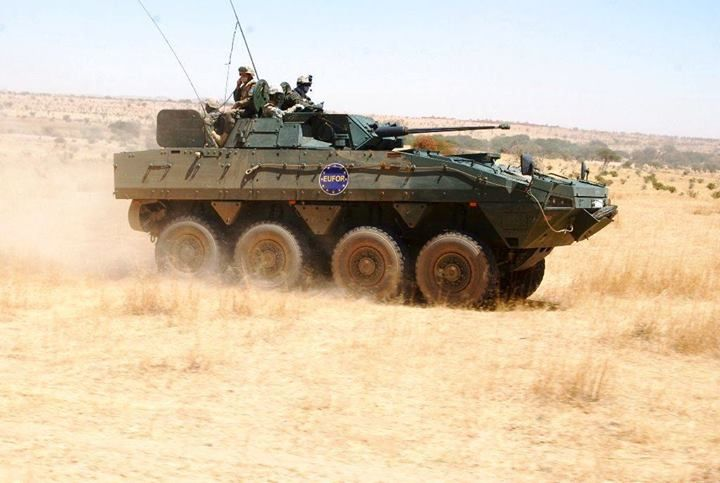 Polish Kto Rosomak From Eufor Chad Car During Patrol In Chad