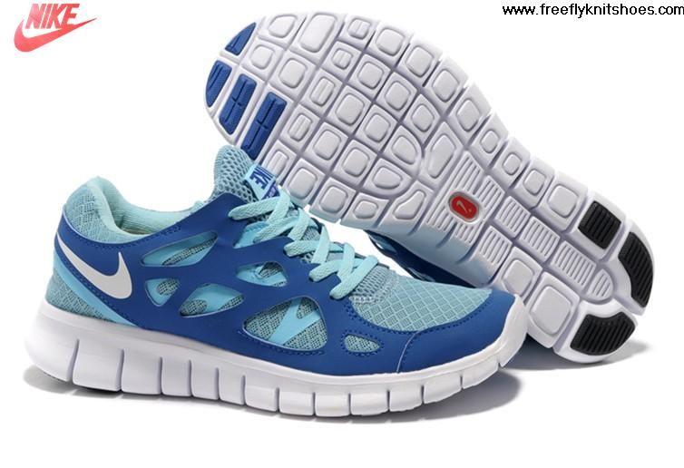 best cheap 0f91b ddf36 Fashion Womens Nike Free Run 2 Tide Pool Blue Mega Blue Pure Platinum Shoes  Running Shoes