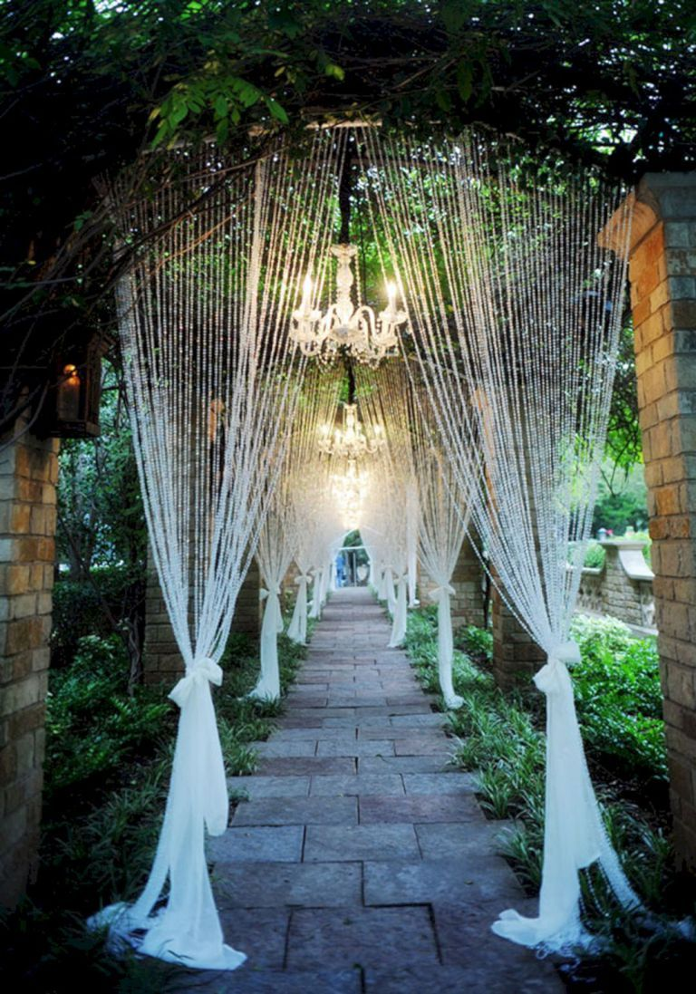Rideaux De Perles Mariage Creative Wedding Entrance Walkway Decor Ideas 36 Fêtes