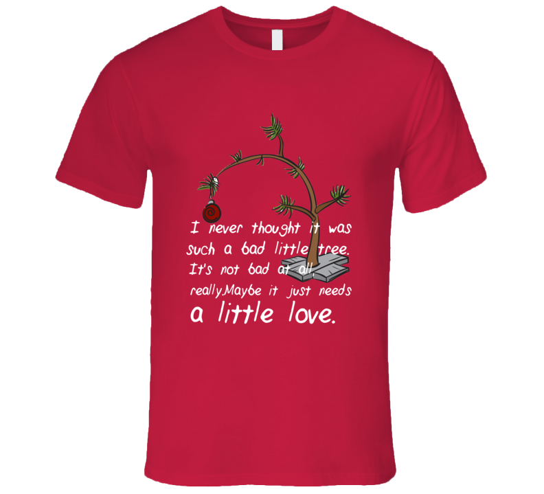 charlie brown christmas tree needs a little love t shirt charlie brown christmas tree