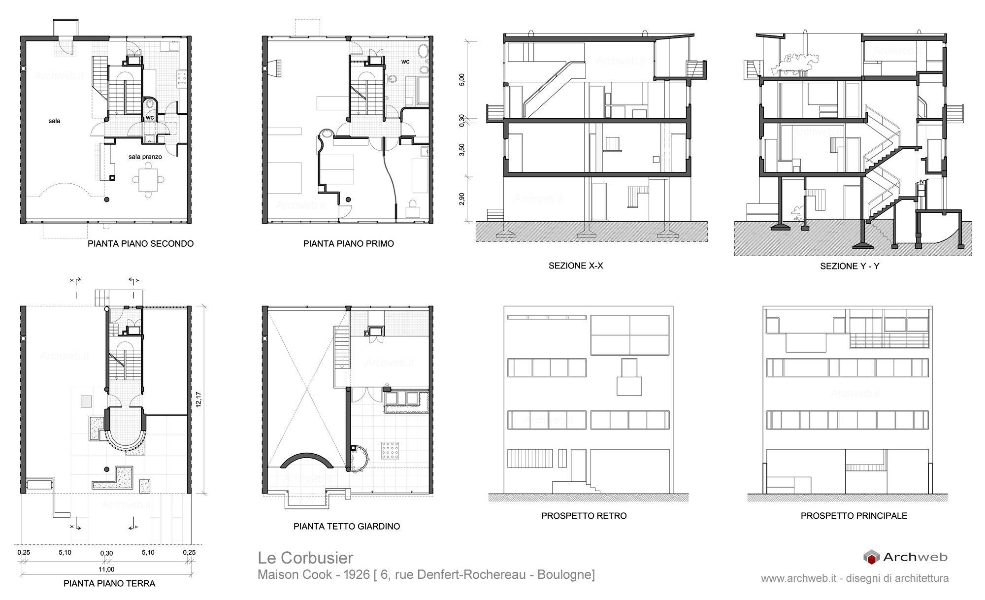 Maison Cook Le Corbusier 1926 Architettura