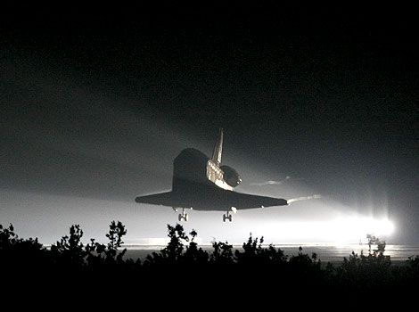 Night landing.