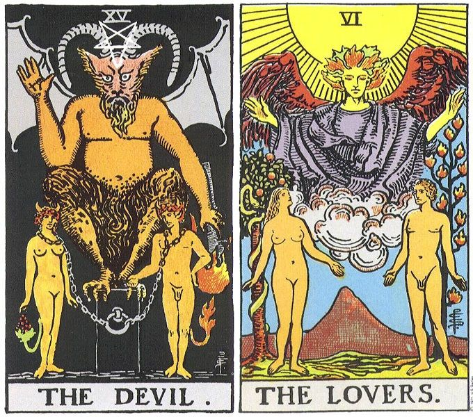 lovers and devil card - Google Search