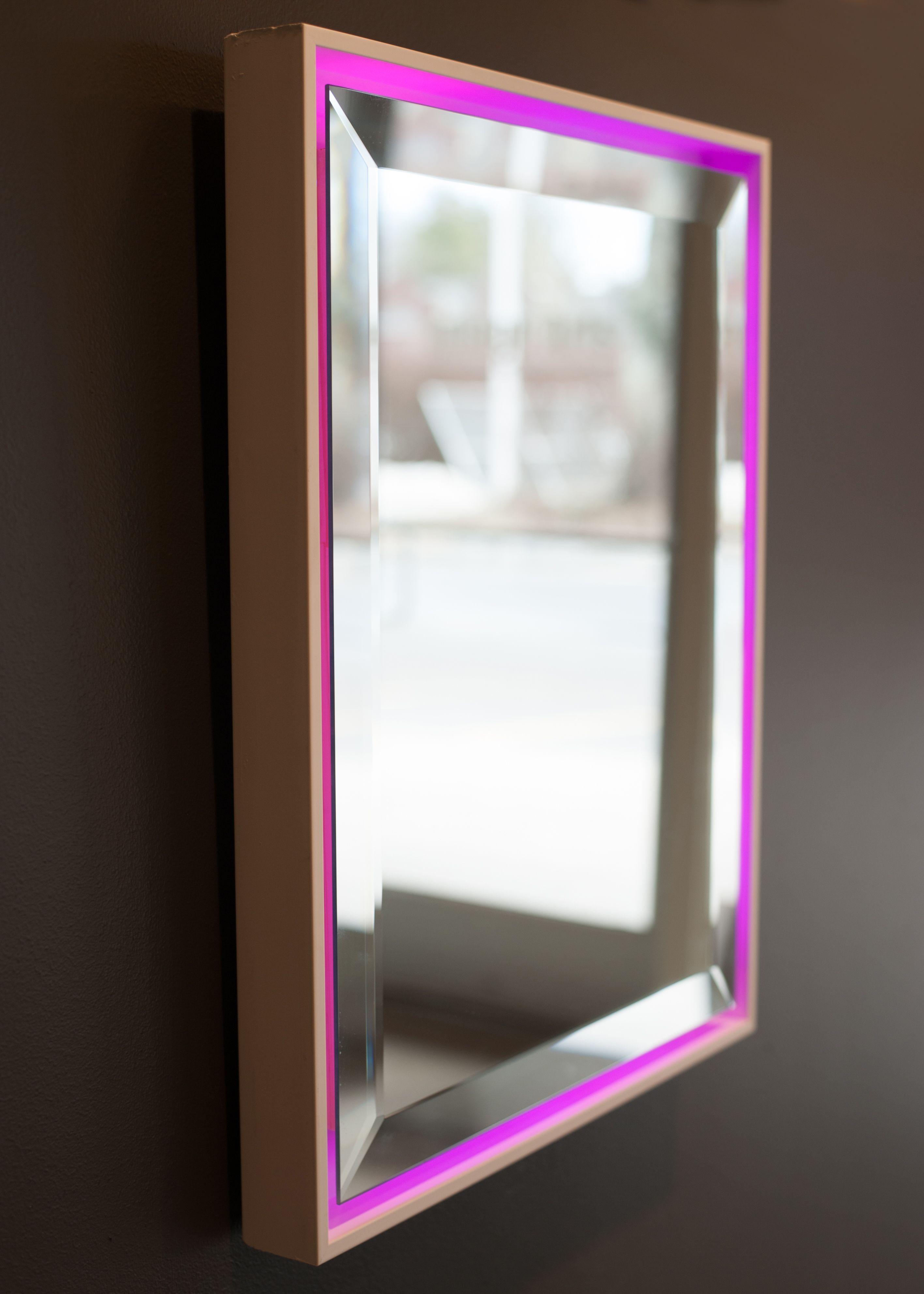 Color changing LED Back Lit Mirror in floating frame | Framing ...
