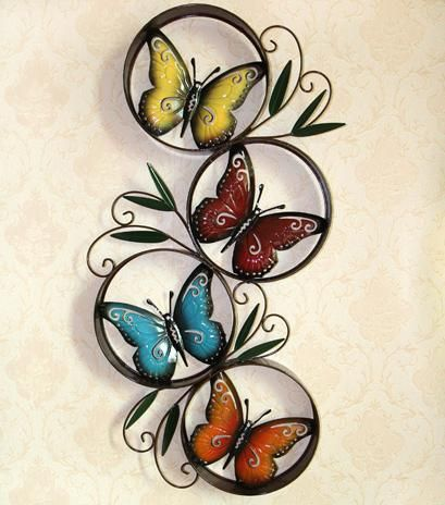 Lovely Find More Metal Crafts Information About Butterfly Circles Round Metal Wall  Art Decor Sculpture Modern Metal