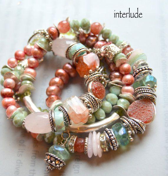 ON SALE fluorite bracelet chalcedony bracelet by soulfuledges