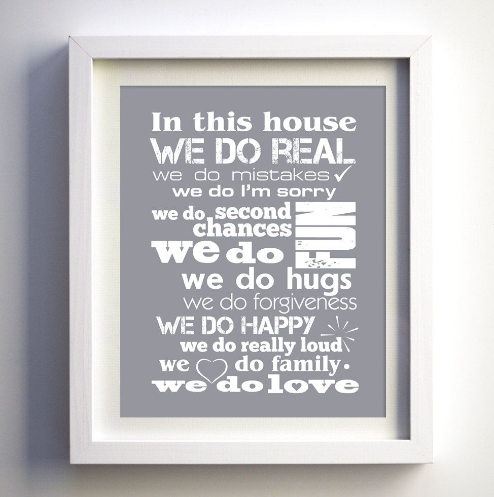 Family Christmas Gift Family Home Rules poster