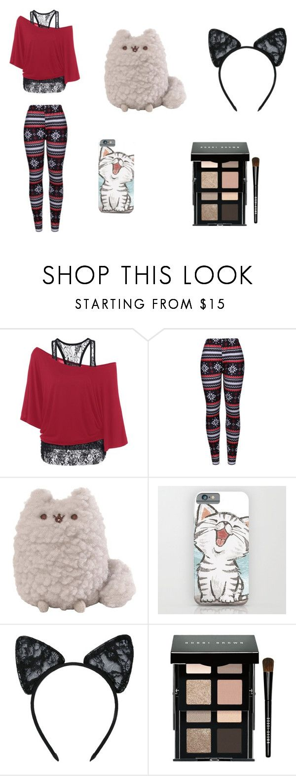"""""""Lazy Day"""" by sm00shie ❤ liked on Polyvore featuring WithChic, Maison Close and Bobbi Brown Cosmetics"""