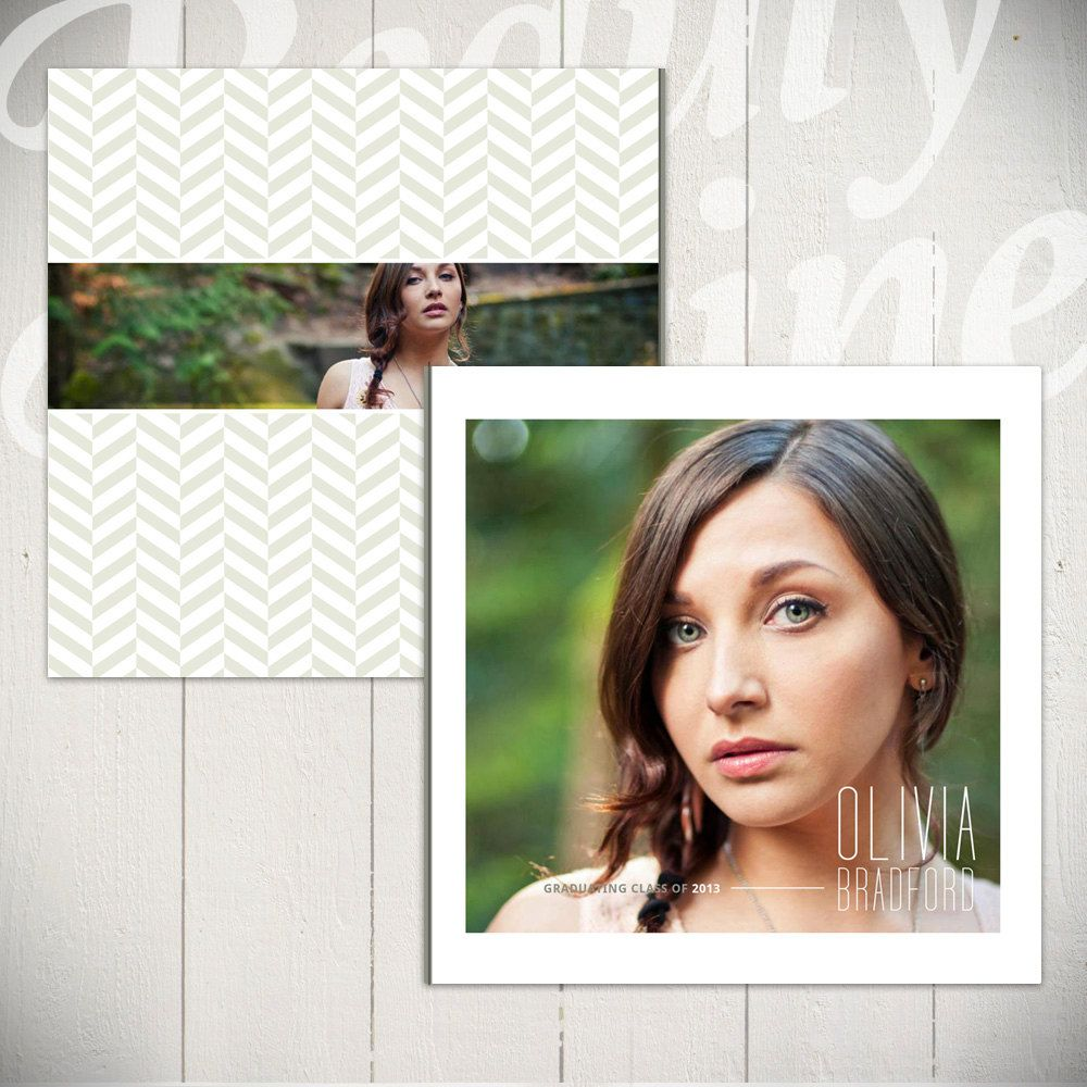 Senior Album Template: Looking Ahead - Graduation Book Template for ...
