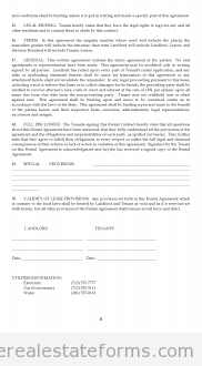Printable Sample Lease Agreement Form  Generic Legal Documents