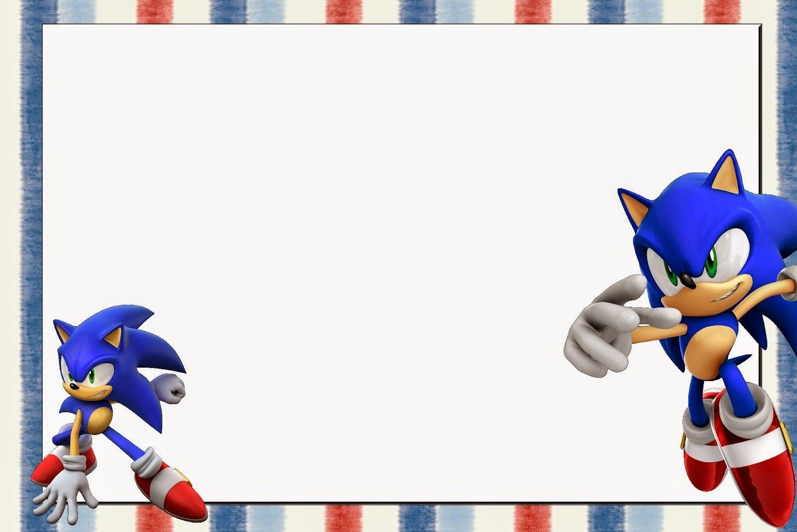 Sonic Invitaciones Para Imprimir Gratis Invitaciones