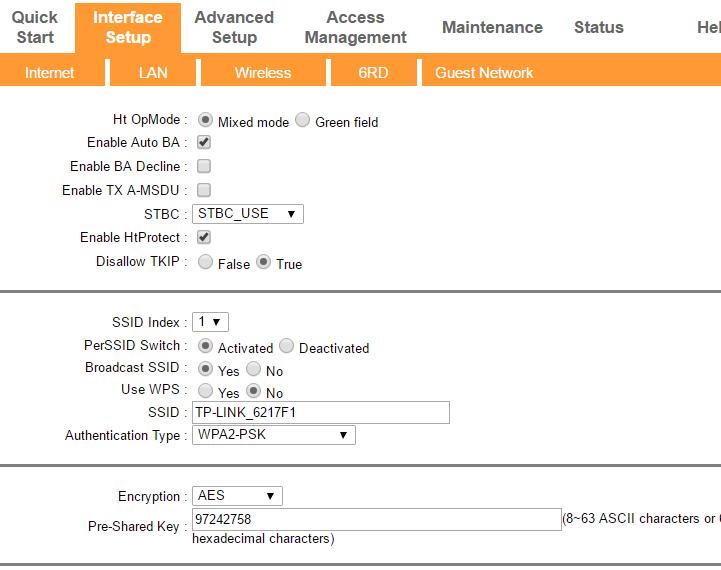 طريقة تغيير الرقم السري للواي فاي في راوتر Tp Link جينات المهوس Management Interface Index