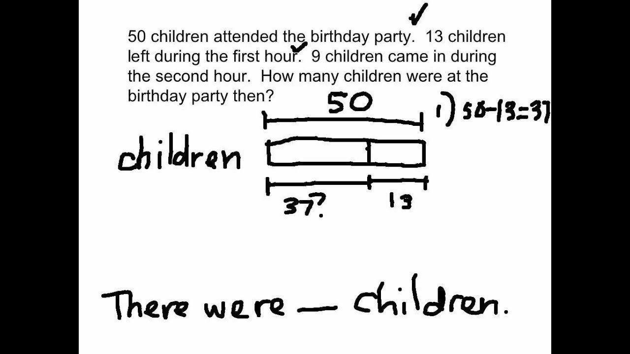 medium resolution of Bar Models Worksheets 2nd Grade 2 Step Word Problems and Bar Models  solutions Examples   Word problems