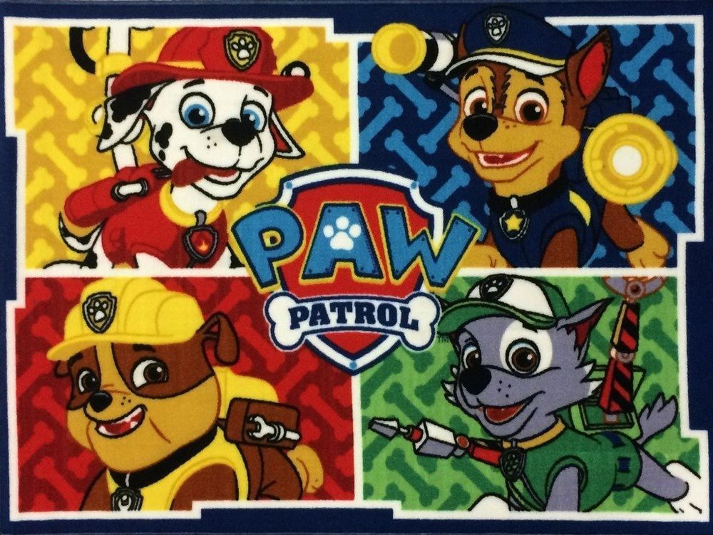 Paw Patrol Character Area Rug Nickelodeon Nautical Paw Patrol Room Paw Patrol Room Decor Paw Patrol Bedding