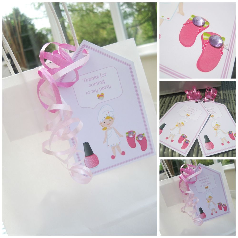 5 x crystal personalised girls birthday gift tags labels