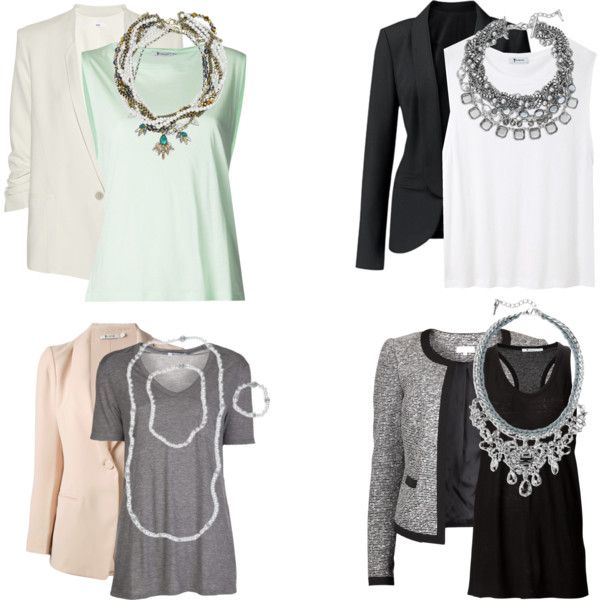 dress up your favorite t-shirt with a blazer and statement necklace. https://www.chloeandisabel.com/boutique/sarahelizabeth