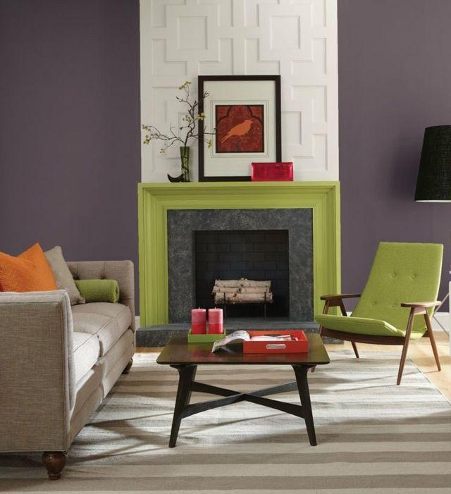 Wohnzimmer Wohnideen weiß Kamin streichen #fireplace Pinterest - wohnideen wohnzimmer streichen