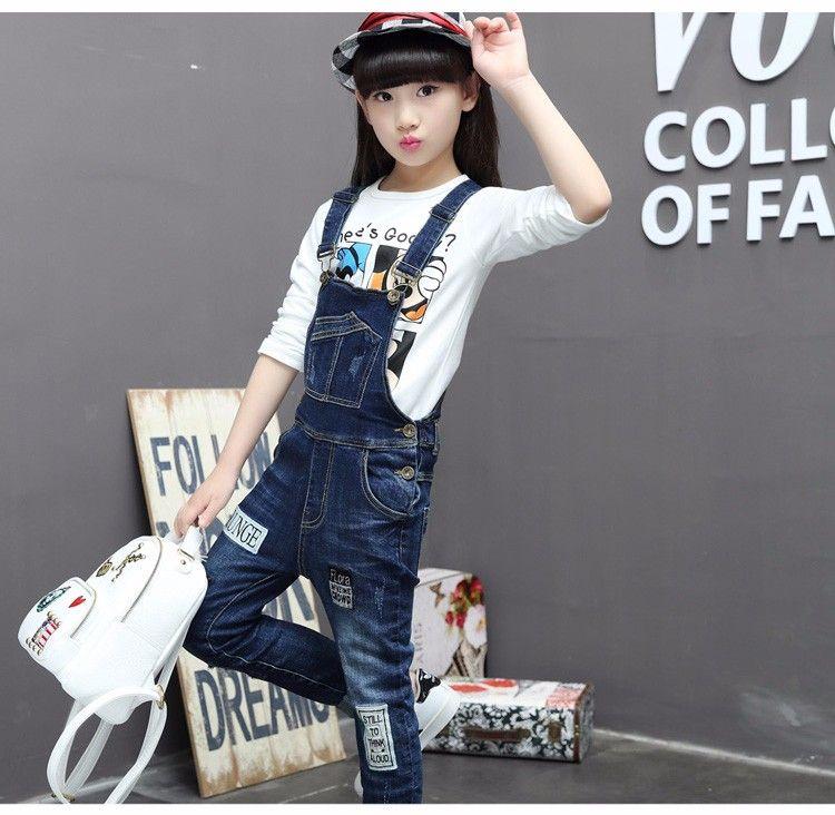 7b4542a7e54 F17009 2017 Latest Fashion Top Design Jumpsuit Pockets Design Girl Denim  Patch Jeans Wholesale Children s Boutique Clothing - Buy 2017 Fashion  Lastest ...