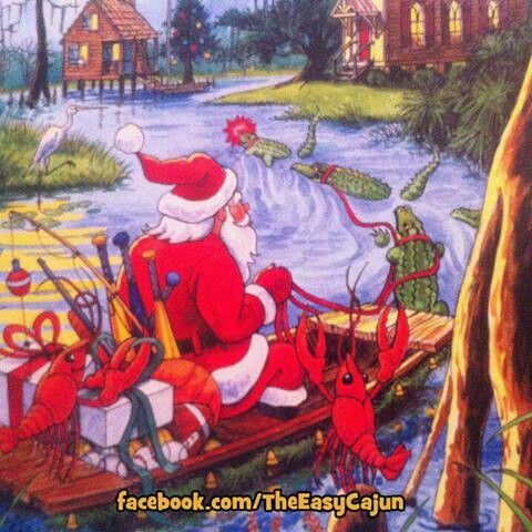 Cajun Christmas Louisiana Art Louisiana Christmas Cajun Night Before Christmas