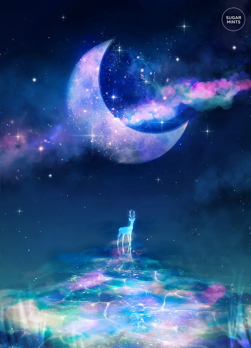 Moon River Sugarmints Artblog Beautiful Fantasy Art Anime Scenery Fantasy Posters