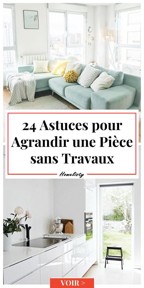 24 Astuces Pour Agrandir Une Piece Sans Travaux Idee Deco
