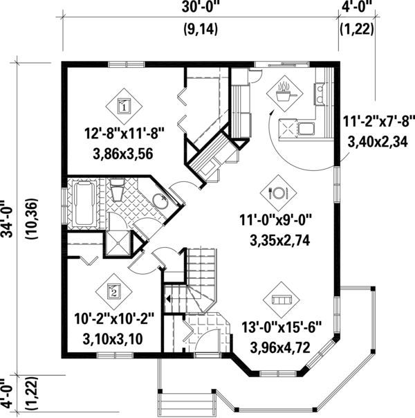 6 Amazing Floor Plans For Tiny Victorian Homes Country Style House Plans Cottage Floor Plans Victorian House Plans