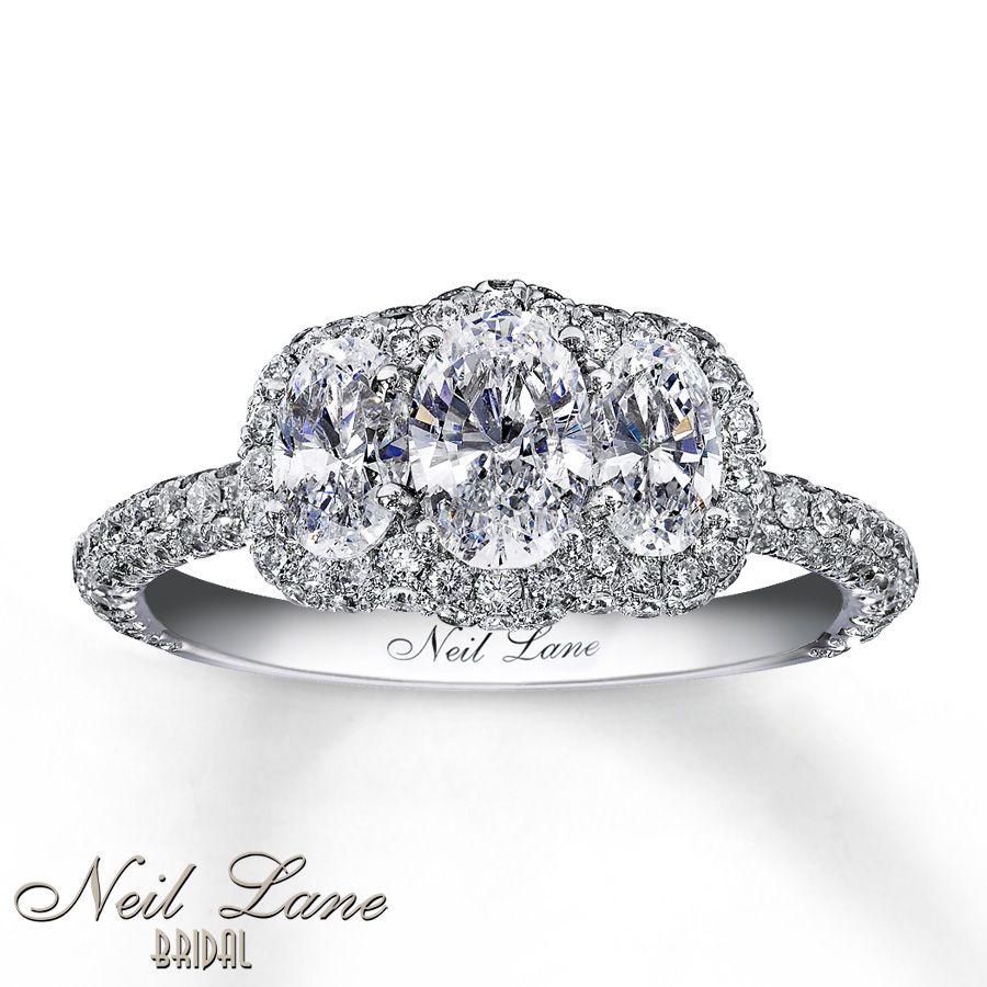 3 stone vintage diamond rings neil lane bridal 2 13 carat tw - Neil Lane Wedding Ring