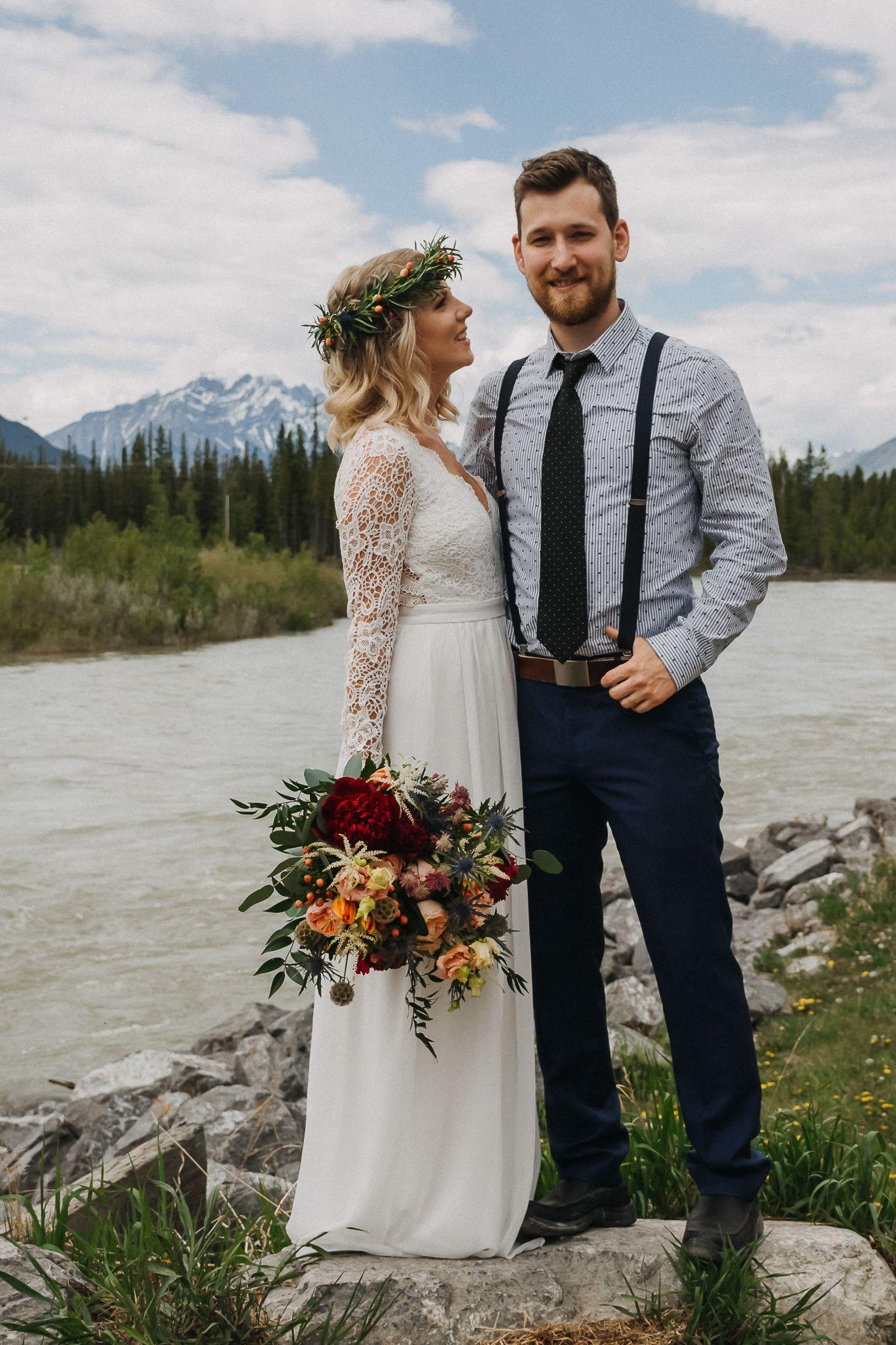 Canmore Elopement // Marissa & Tyson in 2020 Wedding men