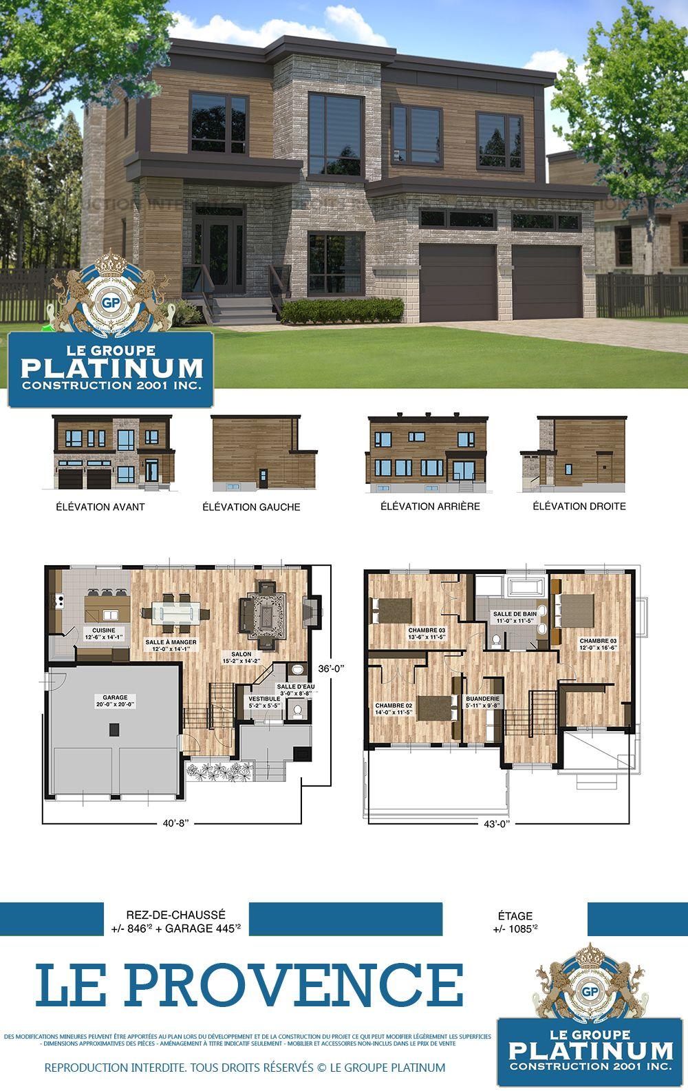 Modèle De Maison Neuve : Le Provence   Le Groupe Platinum   Construction De  Maisons Et