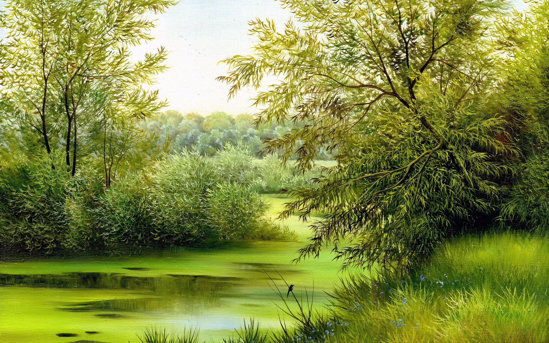 июньский картинки картины пейзаж продавец стоит