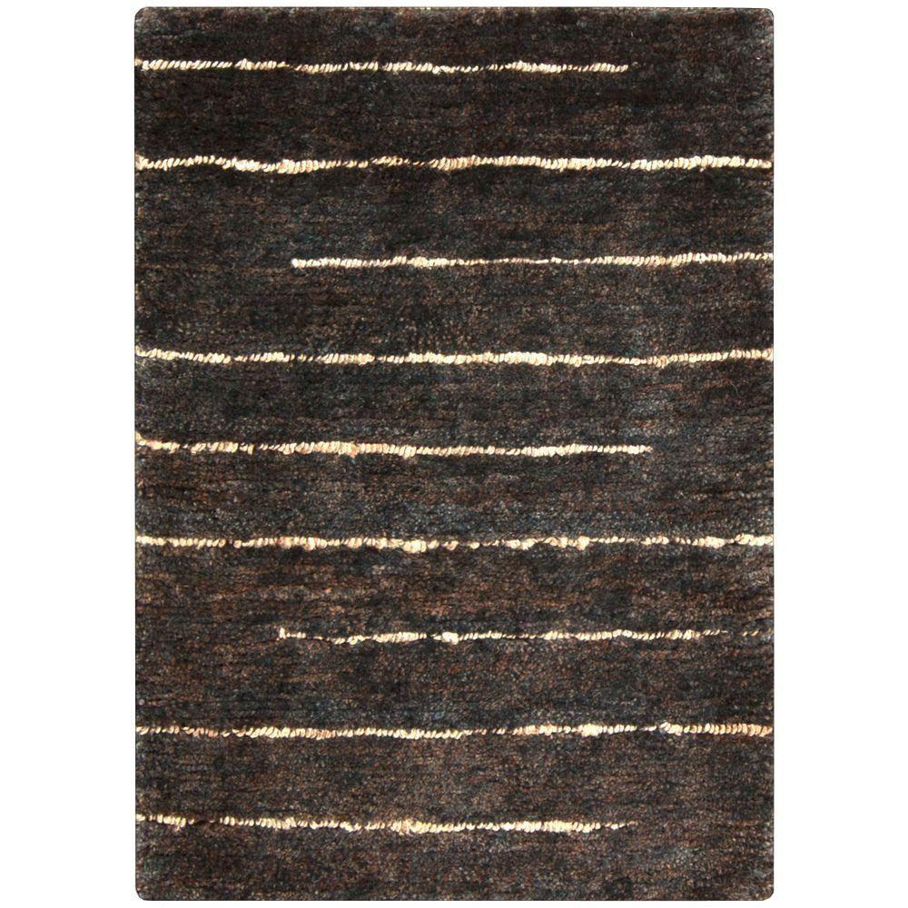 Trinidad Black 2 ft. x 3 ft. Indoor Area Rug, Black/Beige