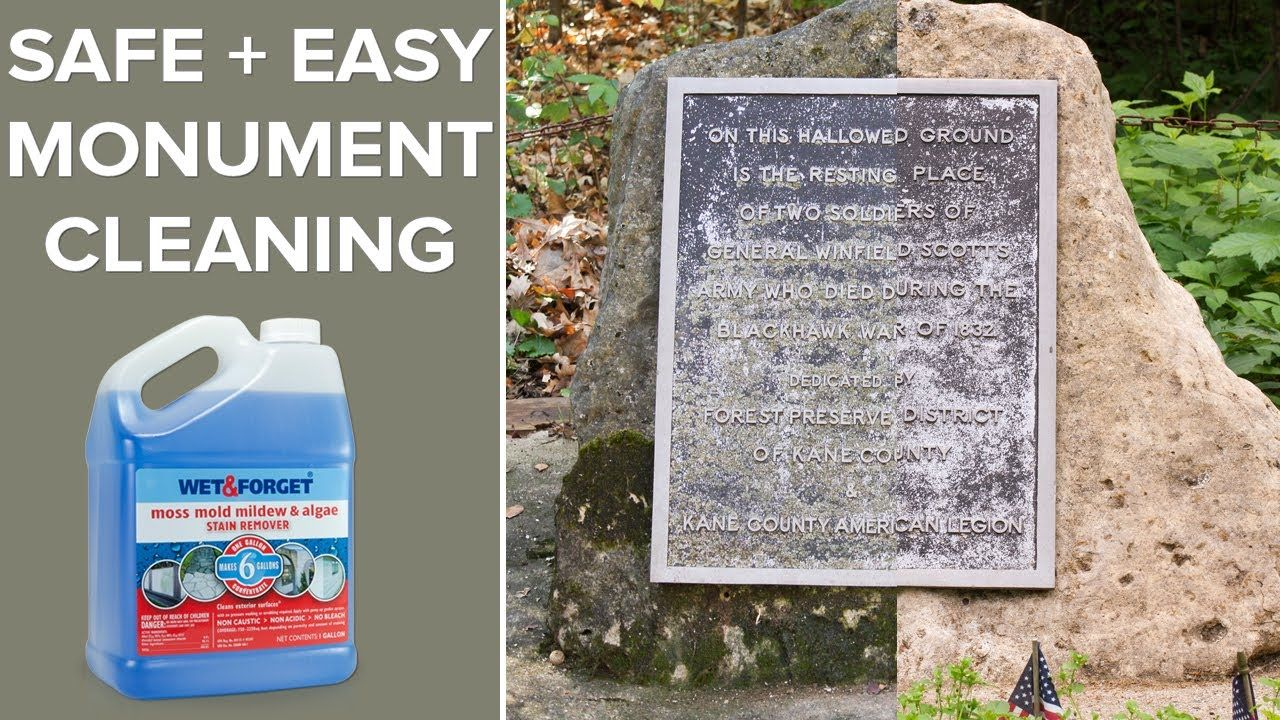 Easy monument cleaning with wet and how to clean