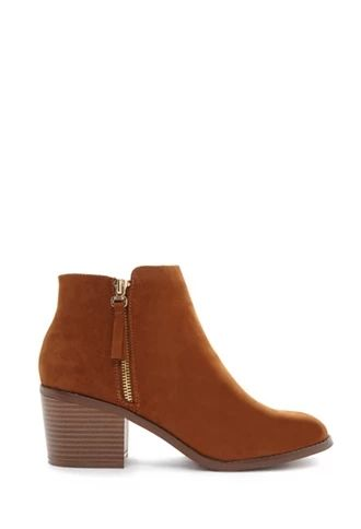 Zipped Faux Suede Booties | Forever 21 #stepitup