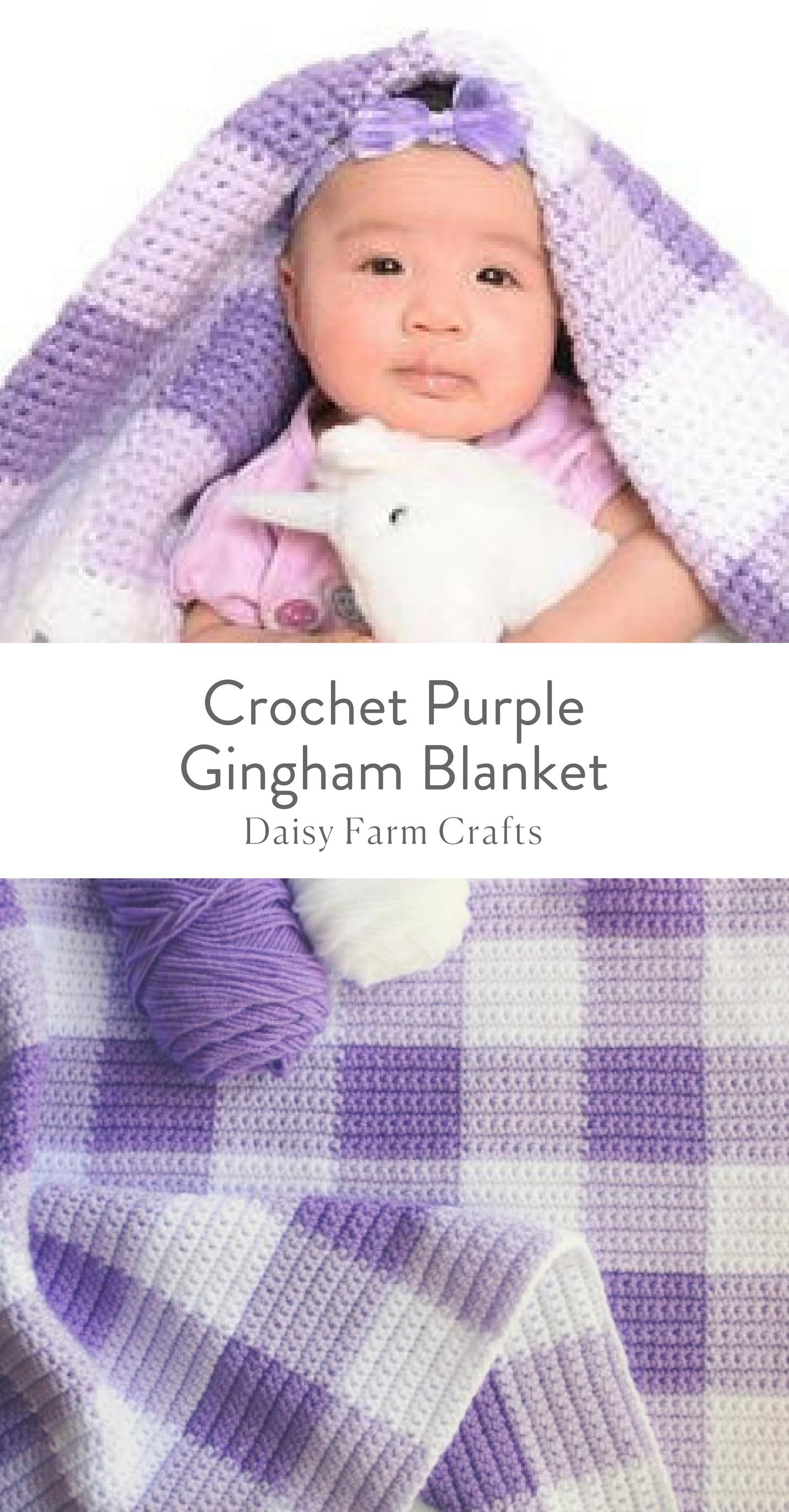 Free Pattern - Crochet Purple Gingham Blanket | Crochet | Pinterest ...