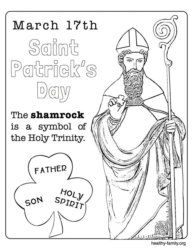 st patrick coloring pages religious Easy St. Patrick's Day Ideas to Create Fun in 10 Minutes or Less  st patrick coloring pages religious
